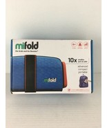 Mifold Grab-and-Go Booster Seat Denim Blue 40-100 Lbs Award winning & Co... - $27.71