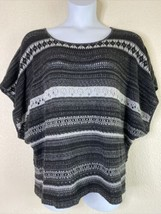 Lane Bryant Womens Plus Size 18/20W Knit Striped Poncho Style Top Short ... - $16.43