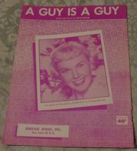Vintage Sheet Music - A Guy Is A Guy - 1952 Edition - VGC - Oscar Brand - $5.93