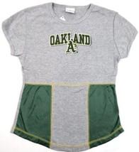 Junior Women's MLB Oakland Athletics Shirt Mesh Side Tee Top Short Sleeve NEW