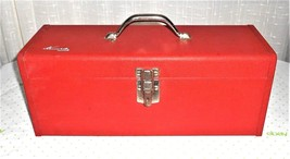 Vintage Kennedy Kits KK-19 Red Metal Tool Box with Tray Made in USA New ... - $48.02