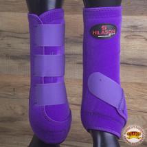 Hilason Infra Tech Horse Medicine Sports Boots Front Leg Purple U-0PUR - $55.95