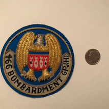 466 Bombardment Air Force Patch Collectible Gold Thread Embellished - $23.75