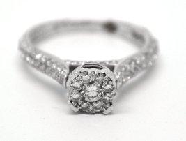 14k White Gold EGL Certified 1.14 ctw Diamond Engagement Ring AVD9352027 image 4