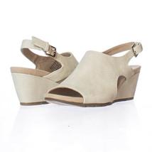 Bandolino Galatee Wedge Slingback Sandals, Ivory, 6.5 US Display - $20.15
