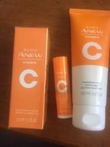 Avon Anew Vitamin C Brightening Serum,Warming peel, Antioxident lip set - $28.99