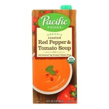 Pacific Foods Roasted Red Pepper & Tomato Soup 32 oz ( Pack of 6 ) - $34.64