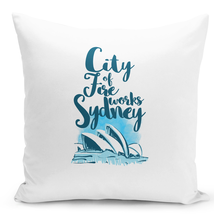 Throw Pillow Sydney Operah House Famous Destination White Home Pillow 16x16 - $28.49