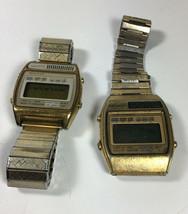 Vintage Seiko Quartz LCD A159-4039-G And A158-5060A Parts / Repair - $74.25