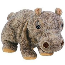 Tubbo The Brown Hippo Ty Beanie Baby Retired MWMT Collectible - $9.85