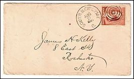 1885 South New Lyme OH Defunct Post Office (DPO) Cover - $9.95