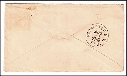 1885 South New Lyme OH Defunct Post Office (DPO) Cover
