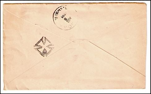 1890 Badger IA Vintage Postal Cover