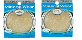 2 x Physicians Formula Mineral Wear Face Powder- #3835 Translucent ~ New - $16.82