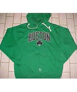 Boston Celtics Basketball Atlantic NBA Green Black Pullover Fleece Hoodi... - $34.64
