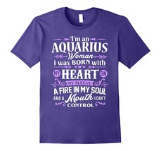 Aquarius Shirt I'm an Aquarius Women T-Shirt Zodiac Birthday Men - $17.95+