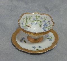 Rosenthal Egg Cup with Attached Underplate Blue Flowers - $18.81