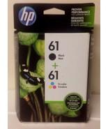 Genuine HP 61 Black Color Ink Cartridge Combo Pack, Factory Sealed, EXP ... - $69.99