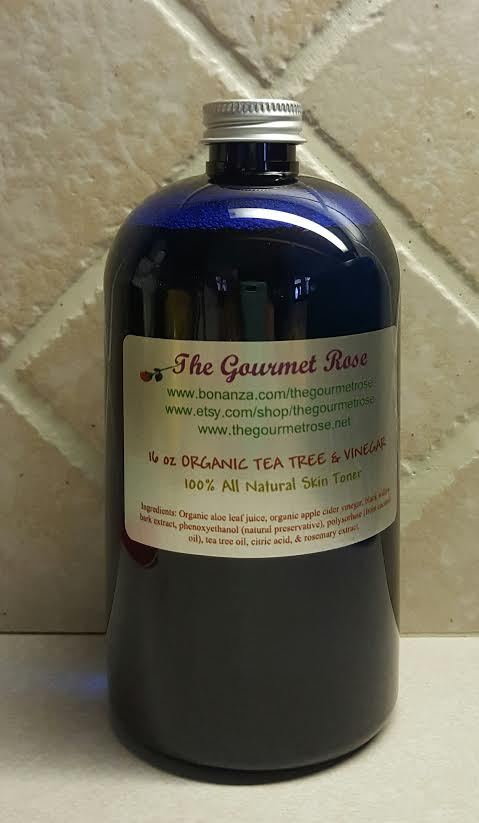Primary image for 16 oz ORGANIC TEA TREE VINEGAR TONER Astringent Natural Anti Acne Oily Remedy