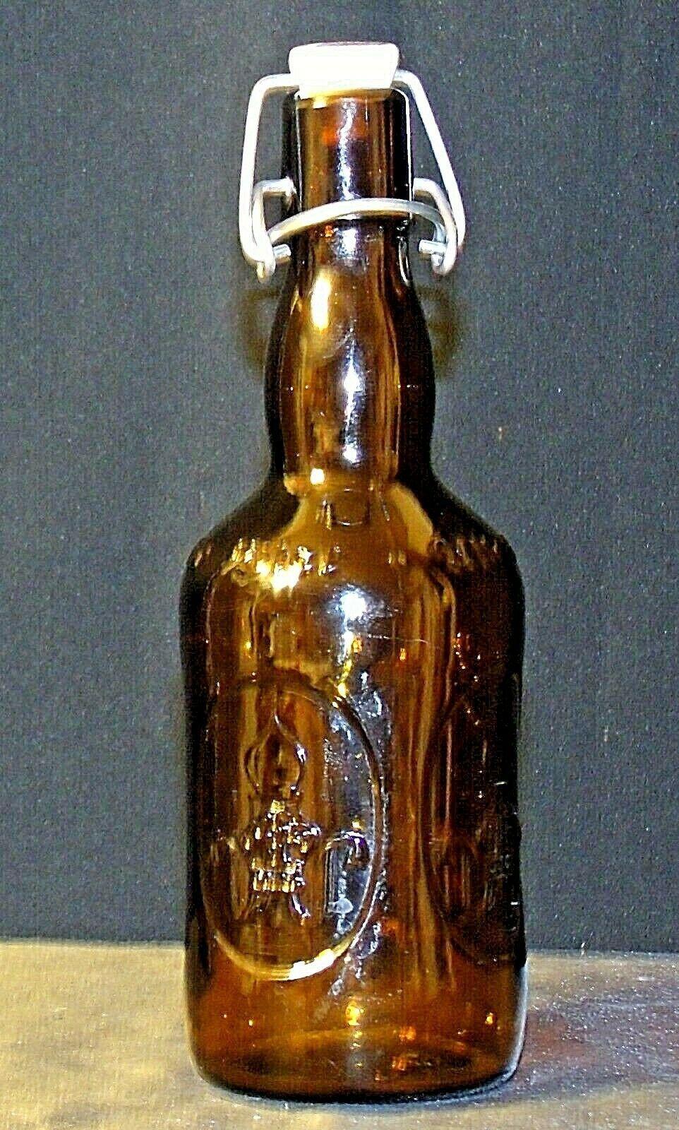 Brauer Bier Amber Brown Beer Bottle AA18 - 1155 Old Vintage