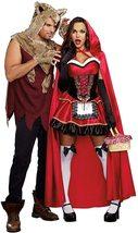 Women's Dream Girl Little Red Riding Hood Deluxe Fantasy Costume Set image 3