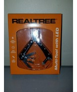 REALTREE MULTI TOOL WITH 8 HIGH QUALITY TOOLS LED RXGREALT03 - $7.83