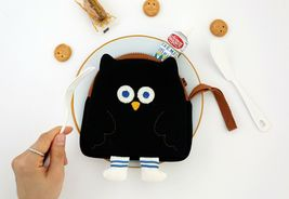 Brunch Brother Flying Owl Pouch Cosmetic Bag Case Organizer (Black) image 5