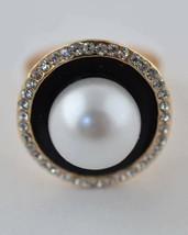 Faux Pearl Rhinestone Ring - $2.55