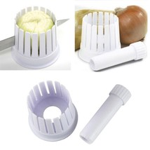 Onion Cutter Slicer Plastic Cutting Holder Simple Kitchen Tools Accessor... - €8,68 EUR