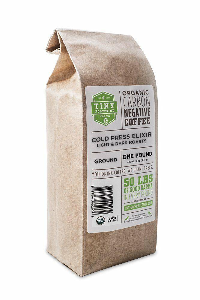 TINY FOOTPRINT COFFEE ORGANIC COLD PRESS ELIXIR - COLD BREW COFFEE, GROUND, 16OZ - $17.63