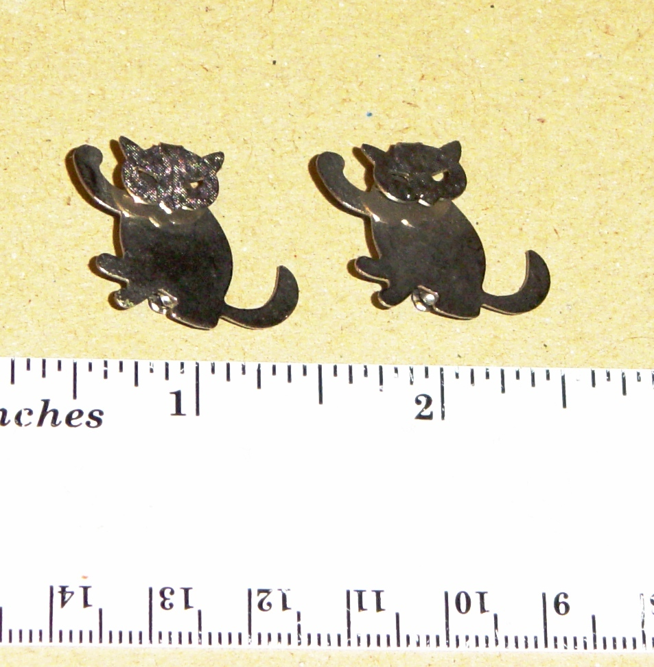 Primary image for Lot 2 Vintage 1960s Metal Siamese Cat Pins Broaches