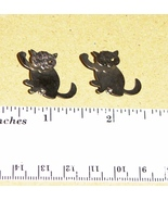 Lot 2 Vintage 1960s Metal Siamese Cat Pins Broa... - $5.99
