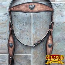 Hilason Western Horse One Ear Headstall Bridle American Leather Brown U-9-HS - $64.30