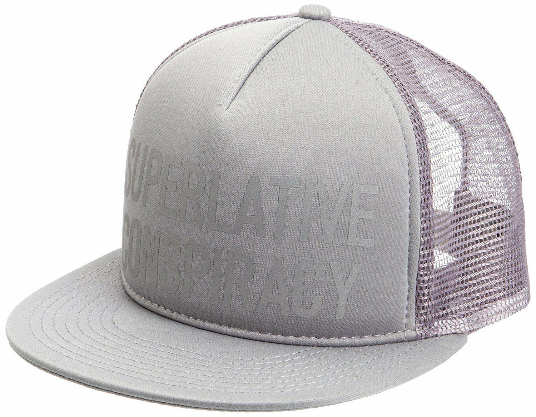 WeSC Unisex Smoked Pearl Grey Superlative Conspiracy Trucker Baseball Hat Cap