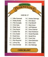 1989 Donruss checklist Diamond Kings CL #27 Error Variation GALIERIES - $8.99