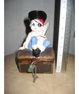 Ceramic Pirate and Treasure Chest Piggy Coin Bank - $80.00
