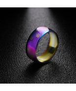 Women Rainbow Ring Dog Cat Paw Print Rings Stainless Steel Wedding Band ... - $7.99