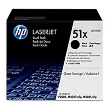 HP 51X Original Toner Cartridge - Dual Pack - Laser - 13000 Pages - Black - $421.84