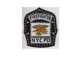 Firefighter  Fire Dept.Fire Engine 53 US Navy SEAL Helmet Shield Patch 4in - $9.99
