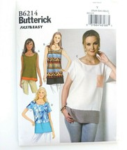 Butterick B6214 Sewing Pattern Fast & Easy Top XS - Med Uncut FF - $12.19