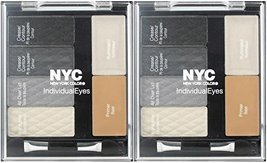 NYC New York Color Individual Eyes Shadow Compact #944 SMOKEY CHARCOALS ... - $29.39