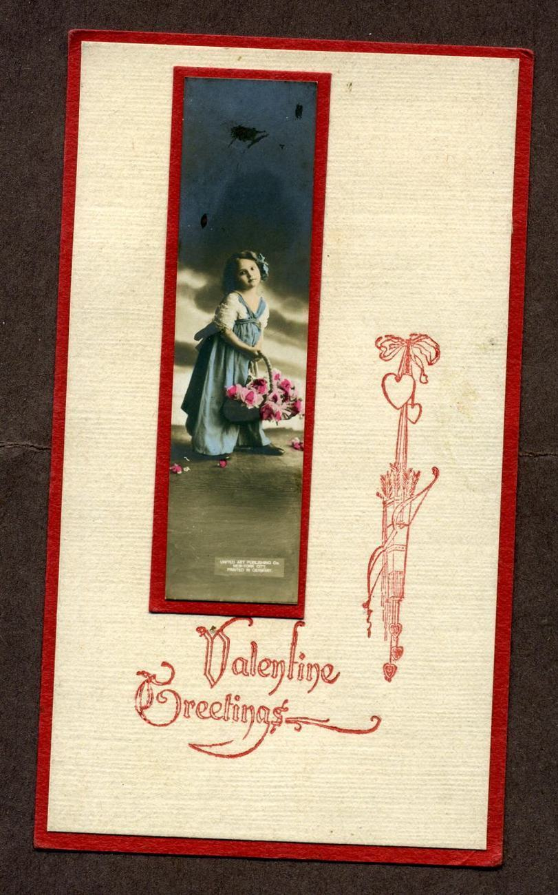 Primary image for Vintage Valentine Card Greetings Cupids Germany Postcard