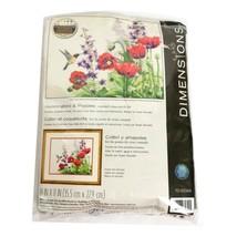 Dimensions Hummingbird & Poppies  Creative Crewel Stitchery 14 x 11 Sealed - $24.95