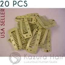 Blond 10-teeth Large Silicone Snap Hair Clips Wigs Extensions - QUICK SH... - €7,15 EUR