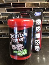 HASBRO Yahtzee To Go Travel Game Dice In A Cup New Play With App - $7.43