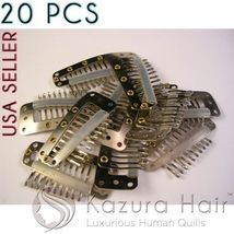 Silver 10-teeth Large Silicone Snap Hair Clips Wigs Extensions - QUICK S... - €7,09 EUR