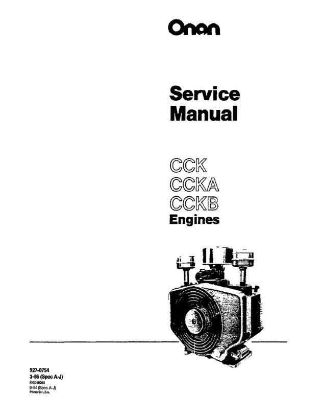 ONAN CCK CCKA & CCKB Engine Service Manual !!! ULTRA FAST eDELIVERY !!!