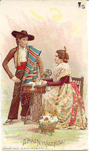 Singer Sewing Spain Valencia 1892 Victorian Trade Card - $7.00