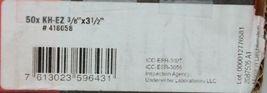 Hilti 418058 KH EZ Concrete Masonry Screw Anchor Silver 3/8 x 3 1/2 50 pcs image 5