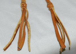 Unbranded Braided Leather Split Reins Six Feet Five Inches Long Honey Brown image 2